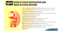 Display woo stock notification back & notifier stock in