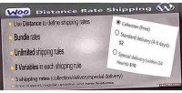 Distance woocommerce rate shipping