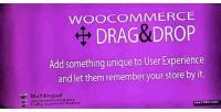 Drag woocommerce cart shopping drop