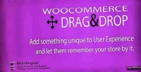 Drag woocommerce cart shopping drop