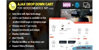 Drop ajax down wordpress cart woocommerce for