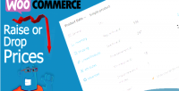 Drop woocommerce prices