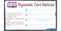 Dynamic woocommerce cart notices