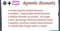 Dynamic woocommerce discounts