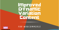 Dynamic woocommerce plus content variation