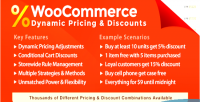 Dynamic woocommerce pricing discounts