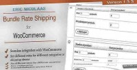 E woocommerce commerce shipping rate bundle