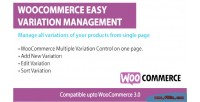 Easy woocommerce variations management
