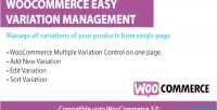 Easy woocommerce variations management