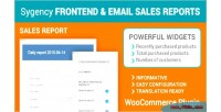 Email frontend sales plugin woocommerce reports
