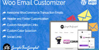 Email woo customizer sts