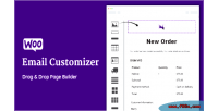 Email woocommerce customizer with & drag builder email drop