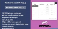 Emi woocommerce popup