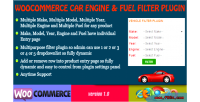 Engine woocommerce & plugin filter fuel