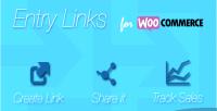 Entry woocommerce links