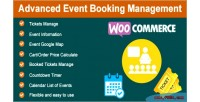 Event advanced booking woocommerce for management