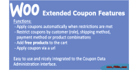 Extended woocommerce coupon features