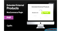 Extended woocommerce external products