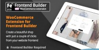 Extension woocommerce for builder page frontend
