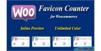 Favicon woocommerce counter