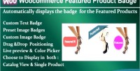 Featured woocommerce product badge