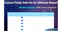 Fields custom add for on reports ultimate woocommerce