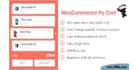Fly woocommerce cart