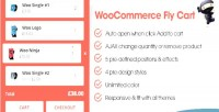 Fly woocommerce cart