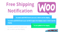 Free woocommerce shipping notification