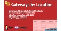 Gateways woocommerce by location