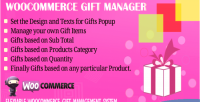 Gift woocommerce manager
