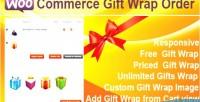 Gift woocommerce wrap order