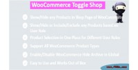 Hide woocommerce shop products
