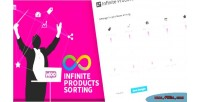 Infinite woocommerce products sorting