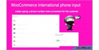 International woocommerce phone input