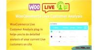 Live woocommerce customer analysis