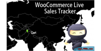 Live woocommerce sales tracker