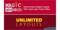Magic grid woocommerce display filter ajax product