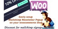 Mailchimp woocommerce discount