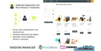 Manager vendors for vendors product woo