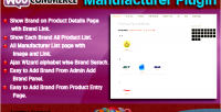 Manufacturer woocommerce plugin