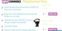 Manufacturer woocommerce price