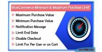Minimum woocommerce limit purchase maximum