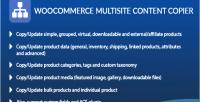 Multisite woocommerce content copier