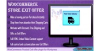 Offer exit for woocommerce