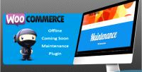 Offline woocommerce coming plugin maintenance soon