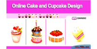 Online cake & cupcake woocommerce for design