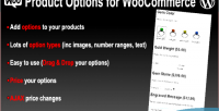 Options product for plugin wp woocommerce