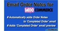 Order email woocommerce for notes