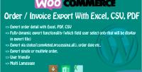 Order woocommerce export